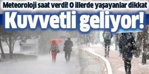 Doğu Anadolu'daki 5 ilde karla karışık yağmur ve kar bekleniyor