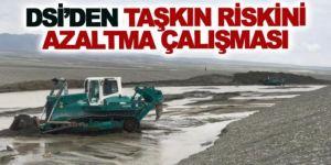 Erzurum'da taşkın riskini azaltacak dere ıslah çalışmaları devam ediyor