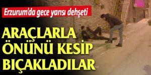 Erzurum'da Araçlı kovalamaca kanlı bitti:1 yaralı