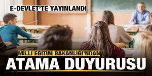 MEB'den 20 bin öğretmen ataması duyurusu: E-Devlet'te yayınlandı