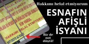 Erzurum'da esnaf isyan etti