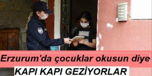 Erzurum'da bu polisler, çocuklar okusun diye seferber oldu