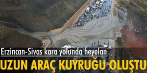 Erzincan-Sivas kara yolunda heyelan