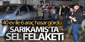 Sarıkamış'ta sel felaketi: 40 ev ile 6 araç hasar gördü
