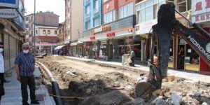 Oltu Ziyabey Caddesi yenileniyor