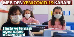 Milli Eğitim Bakanlığı'ndan yeni Covid-19 kararı