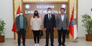 Emniyet Müdürü Tuncer İHA Bölge Müdürü Türkez'i kabul etti