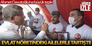 Davutoğlu'nun Diyarbakır'da evlat nöbeti tutan aileleri ziyaretinde gerginlik yaşandı