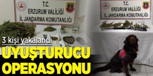 Erzurum'da uyuşturucu operasyonu: 3 gözaltı