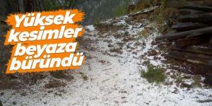 Doğu Anadolu'da yüksek kesimlere yağan karla hava sıcaklığı düştü