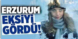 Bölgede en soğuk yer Erzurum