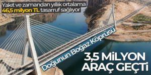 Nissibi Köprüsü'nden 3,5 milyon araç geçti