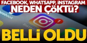 Facebook, WhatsApp ve Instagram neden çöktü?