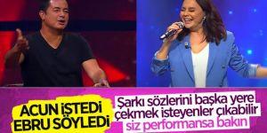 O Ses Türkiye'de Acun Ilıcalı'nın teklifini kırmayan Ebru Gündeş sahneye çıktı
