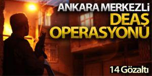 Ankara merkezli 9 ilde DEAŞ operasyonu: 14 gözaltı