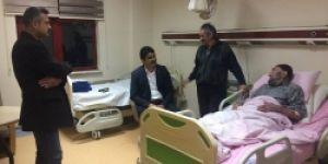 Başkan Polat hastaları ziyaret etti!
