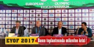 EYOF 2017 basın toplantısında mikrofon krizi!
