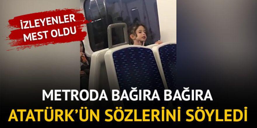 Atatürk'ün sözlerini bağıra bağıra okudu
