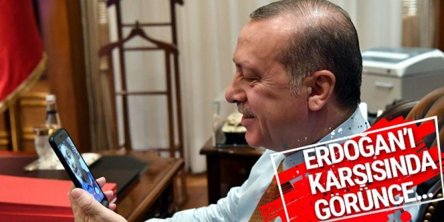 Erdoğan'dan duygulandıran görüşme